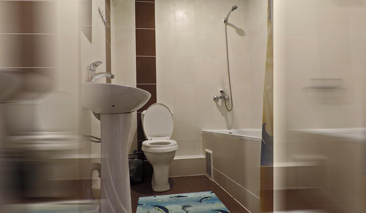 ванная комната в отеле унитаз ванная горячая вода