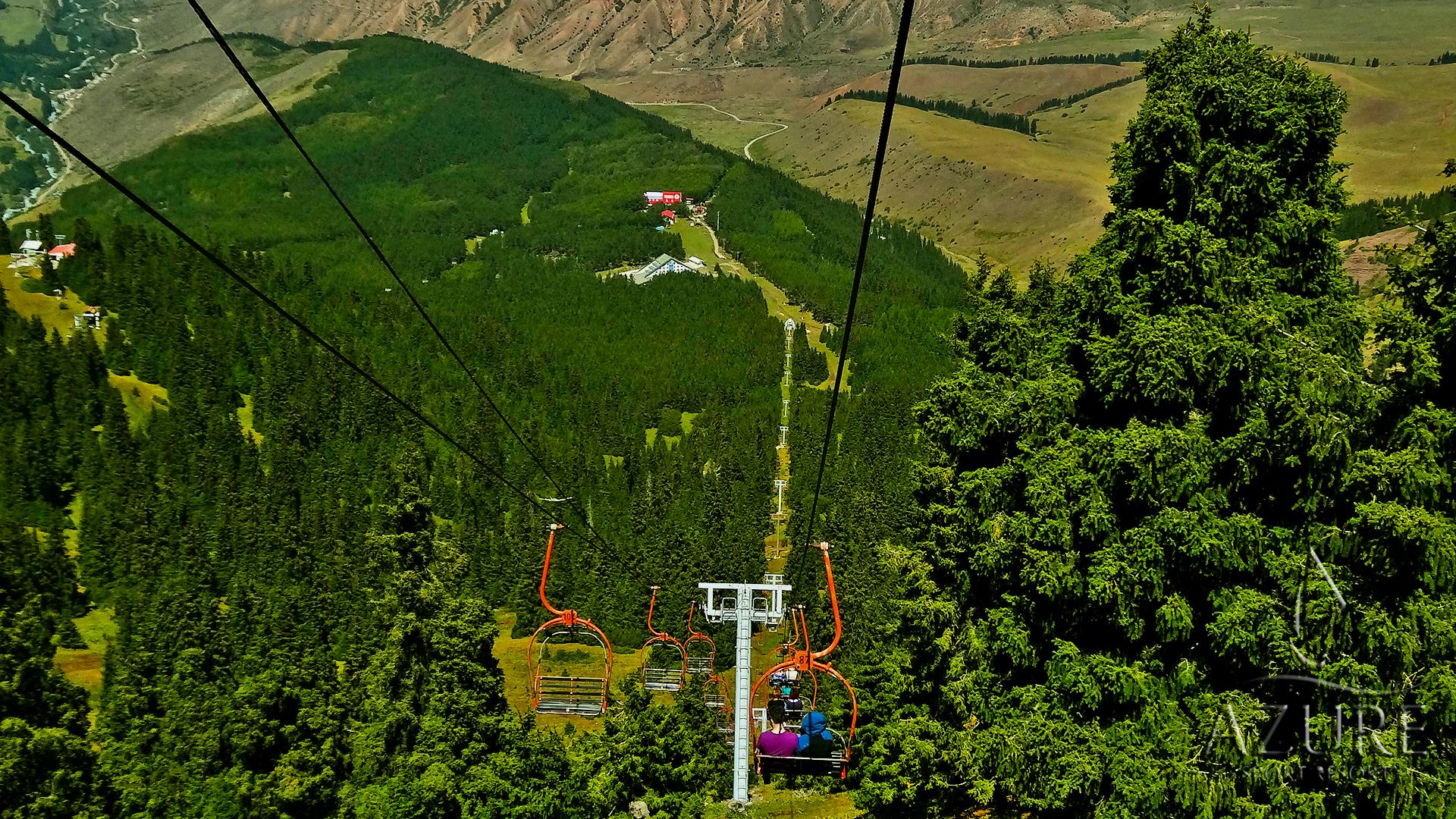 горнолыжная база Каракол экскурсии лес природа лето горы Тянь-Шань